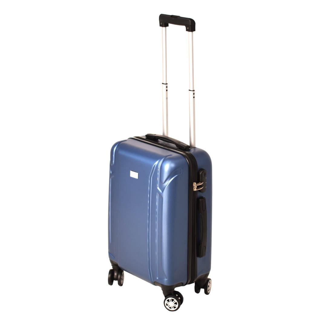 Чемодан маленький, пластиковый LYS 4 колеса 36х48х21 синий  ксЛ722-20гол