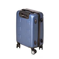 Чемодан маленький, пластиковый LYS 4 колеса 36х48х21 синий  ксЛ722-20гол, фото 2