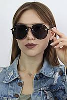 Солнцезащитные женские очки авиаторы с пчелой черные