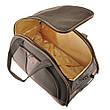 Сумка дорожная на колёсах MY TRAVEL коричневая, формованная 66х38х40 см ксТ400-26кор, фото 2