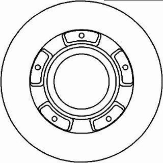 BSG 30-210-023 Тормозной диск задний FORD TRANSIT V347