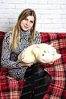 Подушка трансформер Корова 43\47 см Молочная