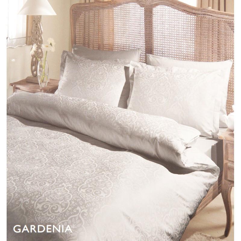 Постельное белье Tac жаккард - Gardenia серый евро