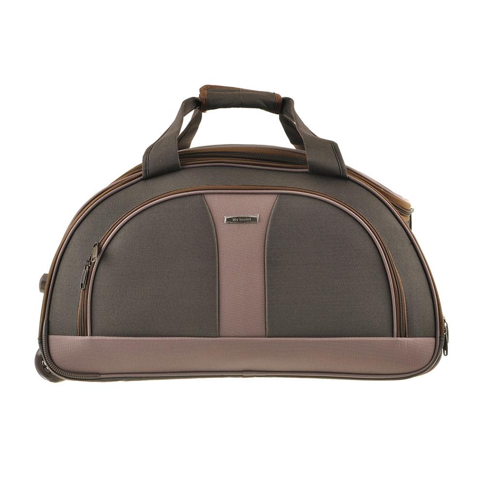 Сумка дорожня з коліщатками MY TRAVEL коричнева, формована 60х35х38 см ксТ400-24кор