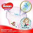 Подгузники-трусики Huggies Pants для девочек 5 (12-17 кг), 34 шт., фото 2