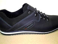 Туфли мужские Columbia летние кожаные больших размеров черные C0004
