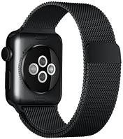Металлический Браслет для Apple watch 38/42mm, Milanese Loop BLACK (Миланская петля)