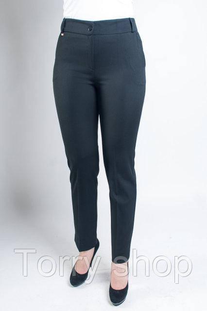 Женские укороченные брюки черного цвета