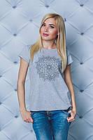 Женская футболка с печатью меланж, фото 1