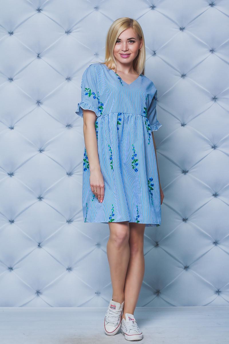 Платье летнее с вышивкой