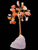 Дерево счастья натуральный сердолик 85*35 мм