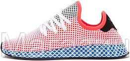 """Женские кроссовки adidas Deerupt Runner """"Solar Bird"""" Red/Blue (в стиле Адидас) розовые"""