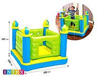 Детский надувной батут-игровой центр Intex «Замок», 132 х 132 х 107 см , фото 1