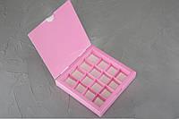 Коробка для конфет на 16шт.цвет в ассорт. 18,5/18,5/3Украина - 06397, фото 1