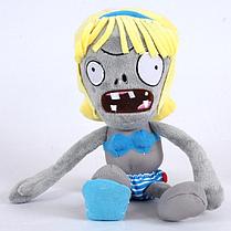 Зомби девочка Мягкая плюшевая игрушка Растения против зомби из игры Plants vs Zombies