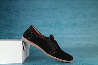 Туфли подростковые реплика Mike черные 10373