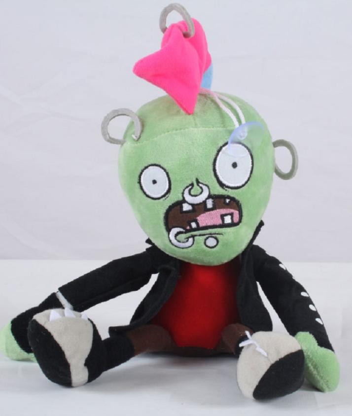 Зомби Панк Мягкая плюшевая игрушка Растения против зомби из игры Plants vs Zombies