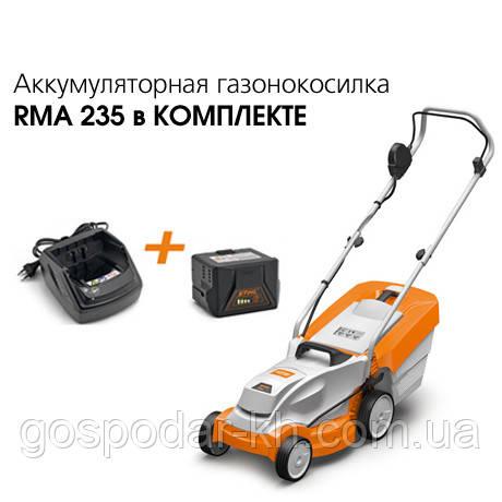 Аккумуляторная газонокосилка Stihl RMA 235 (Set)