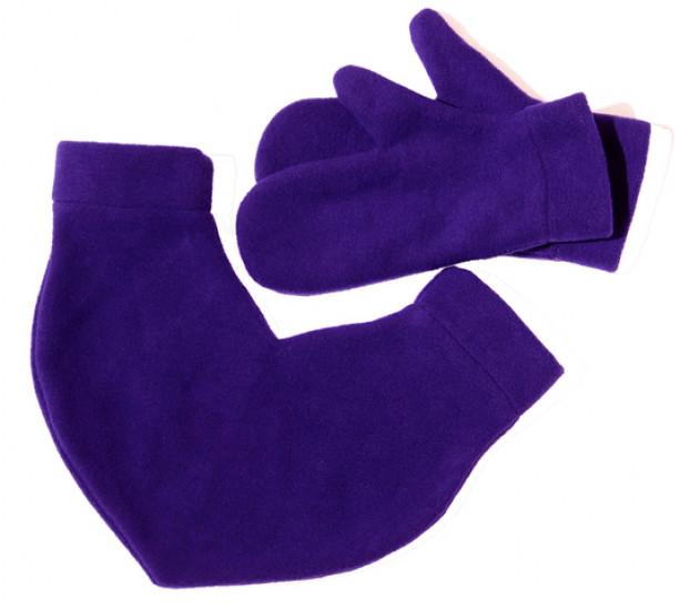 Варежки для влюбленных фиолетовые 105833