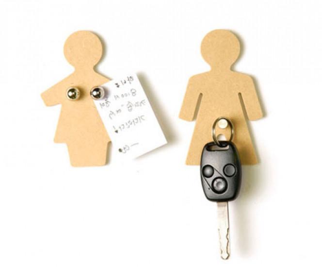 MAN + WOMAN набор магнитов -крючков 106338