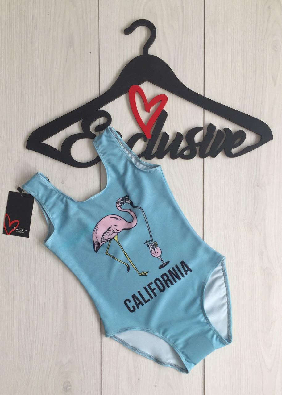 California слитный детский купальник фламинго, сдельные  купальники.