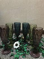 Набор 6 бокалов для шампанского из цветного стекла Изольда 180 мл, фото 3