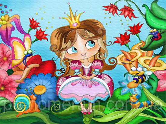 Картина-раскраска Принцесса в сказочном лесу (7121) 25 х ...