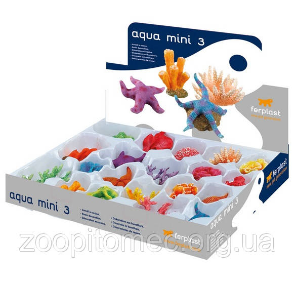 Декорации разные из полиуретана для аквариумов BLU 9179 AQUA MINI 3 ferplast 1шт