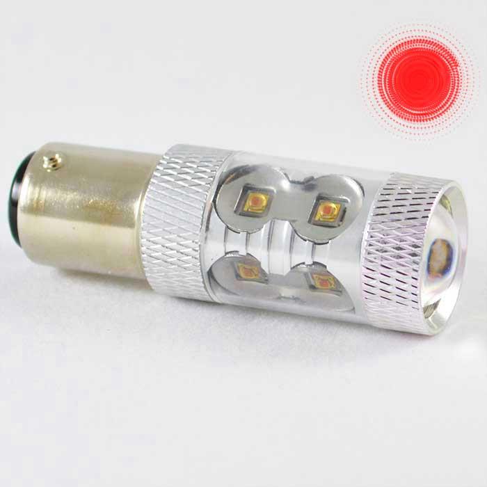 Светодиодная автомобильная лампа с цоколем 1157 (P21/5W)(BAY15D) Osram LH CPDP 30W 9-30V-Красный