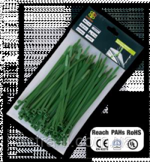 Хомут пластиковый роз'ємний GREEN 4,8*200 мм (уп.)