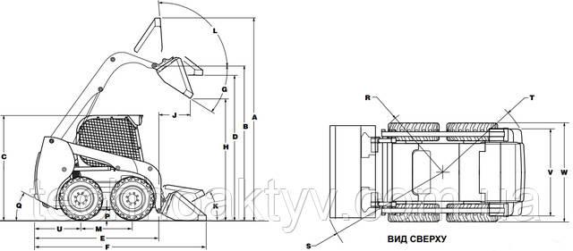 Спецификации колесных мини-погрузчиков (радиальный подъем)