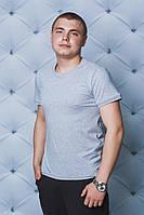 Мужская однотонная футболка меланж
