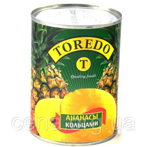 Ананасы TOREDO кольцами 580мл