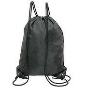 Рюкзак-котомка Wallaby для обуви и сменки 35х43х1 чёрный, ткань нейлон  в 28251ч