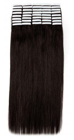 Волосы на лентах 50 см. Цвет #02 Горький шоколоад, фото 1