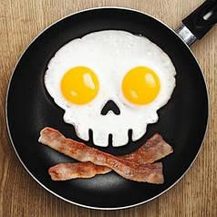Форма для жарки яиц череп