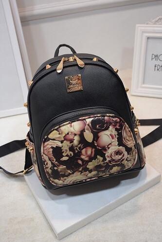 Женский рюкзак городской Магнолия с шипами