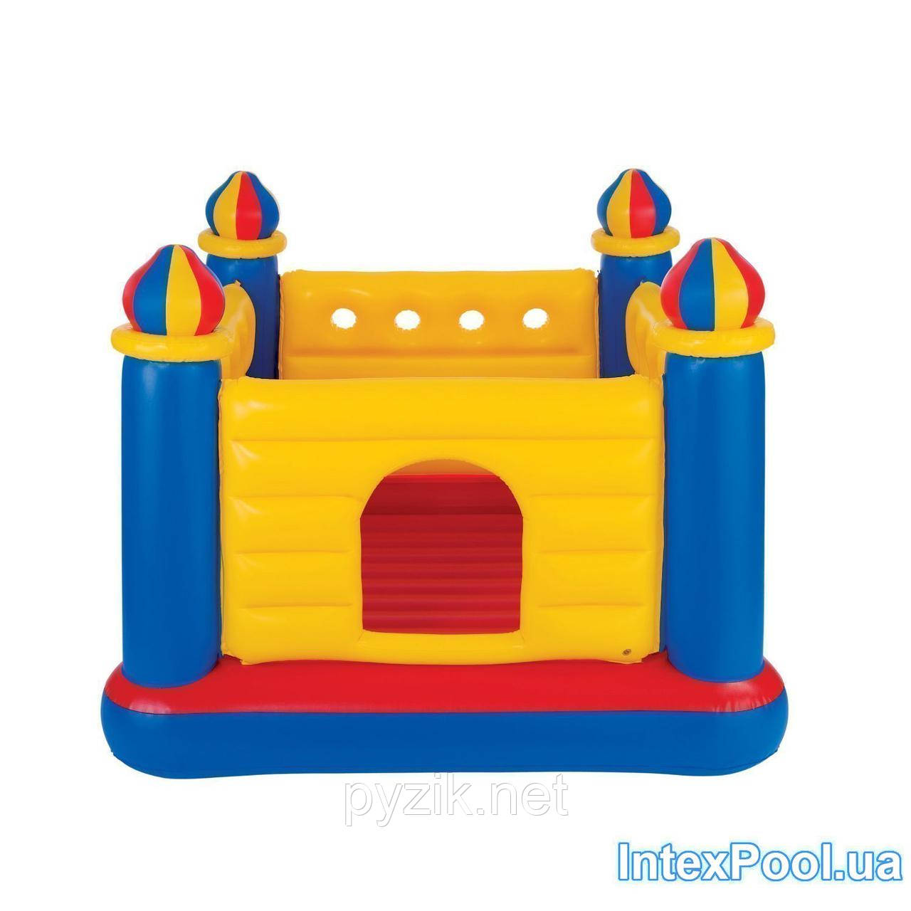 fd9ca21a04da Купить Детский надувной батут-игровой центр Intex «Замок», 175 х 175 ...