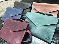Бананка, сумка-бананка, кожаные сумки, ручная работа, сумка-конверт, Mullet