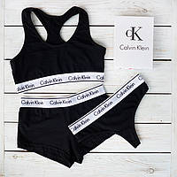 Женский комплект тройка с слипами Calvin Klein