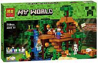 Конструктор Bela 10471 Minecraft Майнкрафт Домик на дереве в джунглях 718 деталей., фото 1