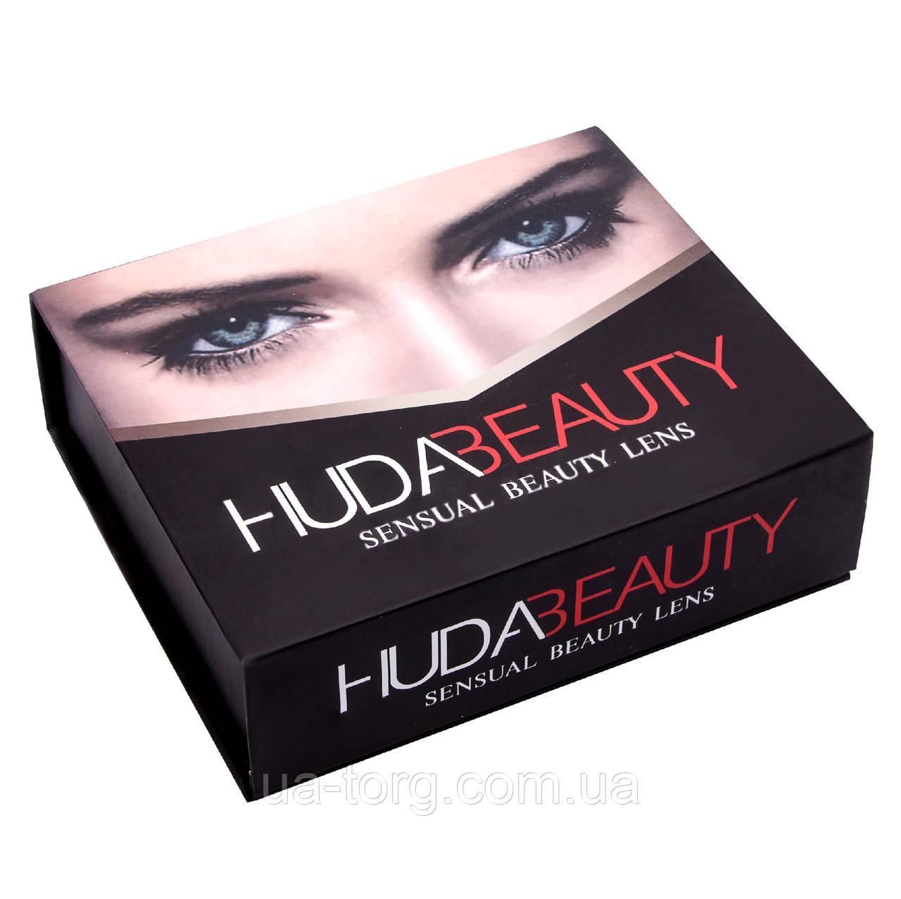 Линзы цветные косметические Huda Beauty sensual beauty lens Turquoise (Бирюзовый)