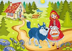 Картина-раскраска Красная шапочка (7126) 25 х 35 см