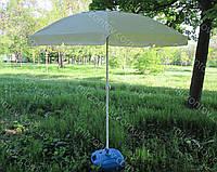 Пляжный зонт с наклоном и с  клапаном 2 м. дм бежевый, фото 1
