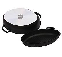 Гусятница Биол антипригарная с крышкой-сковородой, 6 л Г601П
