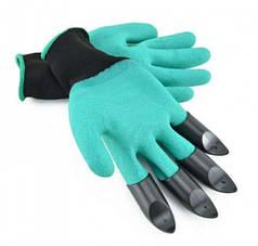Садовые перчатки с пластиковыми наконечниками