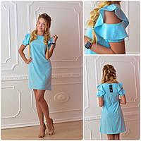 """Платье с рукавами """"волан"""" в расцветках  1297, фото 1"""