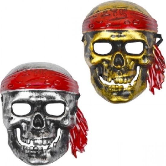 Карнавальная маска Череп с повязкой 122547