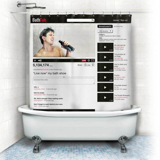 Шторка для ванной YouTube 122822