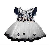 Платье фатин+шифон 1-3 года (80-98) арт.514 х/б подкл.